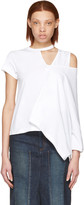 Facetasm White Asymmetry T-shirt
