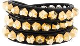 Vita Fede Leather Stud Bracelet