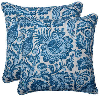 "Tucker Resist Azure 18.5"" Throw Pillow, Set of 2"