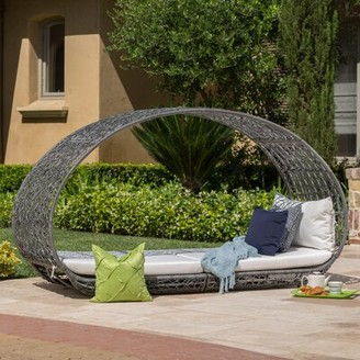MistanaTM Lavina Outdoor Patio Daybed with Cushions Mistana Color: Gray