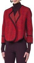 Akris Punto Piped Tweed Cape Jacket