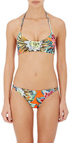 Mara Hoffman Women's Reversible Halter Bikini Top-BLUE, ORANGE, CORAL