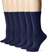 Peds Women's Dress Crew Socks, 6 Pairs
