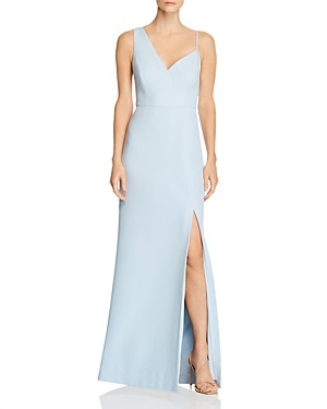 BCBGMAXAZRIA Asymmetric Crepe Gown - 100% Exclusive