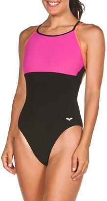 Arena Plus Size Melissa Double Cross-Back One-Piece Swimsuit