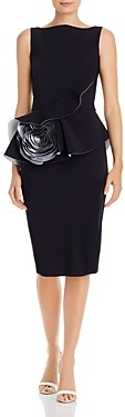 Chiara Boni Morny Rosette Peplum Dress