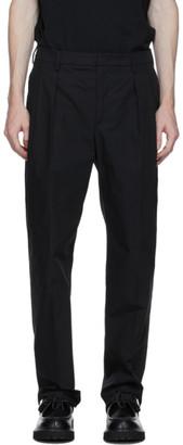 Valentino Black Plain Straight Leg Trousers
