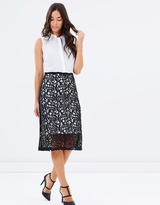 Dorothy Perkins 2-in-1 Lace Skirt Midi Dress