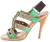 Lanvin Embellished Slingback Sandals