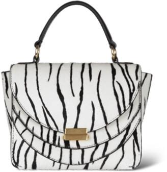Wandler Luna Mini Bag in White Zebra
