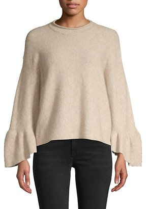 3.1 Phillip Lim Alpaca Wool Blend Ruffle Cuff Sweater