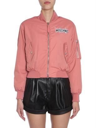 Moschino Cropped Bomber Jacket