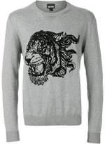 Just Cavalli tiger intarsia jumper