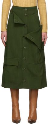 Jacquemus Green La Jupe Monceau Skirt