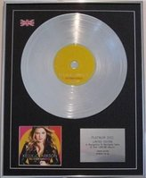 KELLY CLARKSON - Limited edition CD Platinum Disc- ALL I EVER WANTED