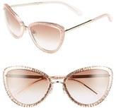 Kate Spade Women's 'Klaudia' 57Mm Cat Eye Sunglasses - Transparent Pink