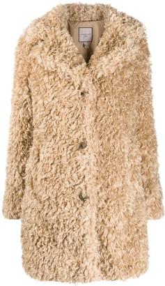 Urban Code Faux-Shearling Mid-Length Coat
