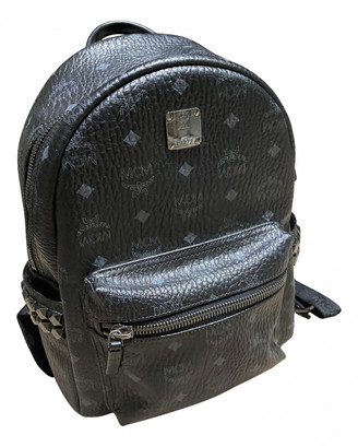 MCM Black Leather Backpacks