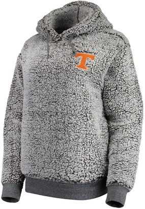 Women's Heathered Gray Tennessee Volunteers Sherpa Inside & Out Pullover Hoodie