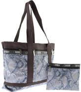 Le Sport Sac Women's Medium Travel Tote - Aqua Snake Casual Handbags
