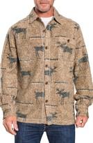 True Grit Men's Moose Blanket Shirt Jacket