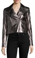 Tart Justine Leather Metallic Motorcycle Jacket