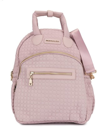 MonnaLisa quilted diaper backpack