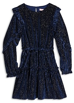 BCBG Girls Girls' Metallic Velvet Corduroy Dress - Little Kid