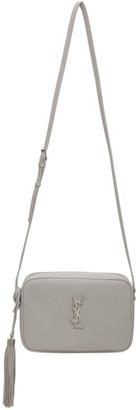 Saint Laurent Grey Smooth Lou Camera Bag