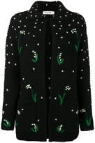 Valentino floral embroidered cardigan