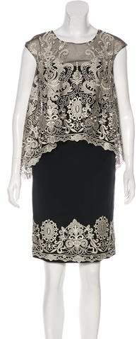 Marchesa Silk Lace Dress