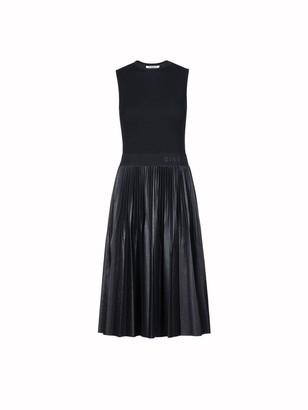 Givenchy Sleeveless Plisse Logo Midi Dress