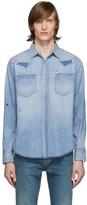 Saint Laurent Blue Denim Western Shirt