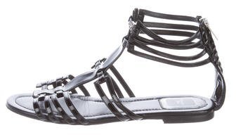 Christian Dior Patent Leather Multistrap Sandals