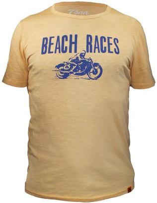Tonn Beach Races Tee Sand Yellow