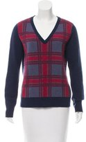 Equipment Wool-Blend Plaid Sweater