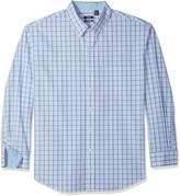 Izod Men's Tall Essential Tattersall Long Sleeve Shirt