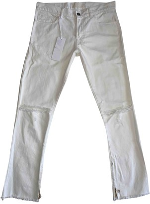 Ih Nom Uh Nit White Cotton Trousers