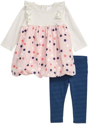 Nordstrom Ruffle & Dot Dress & Leggings Set (Baby)