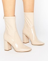 New Look Patent Heeled Ankle Boot