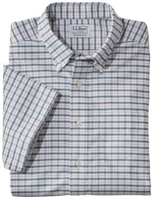 L.L. Bean L.L.Bean Men's Wrinkle-Free Classic Oxford Cloth Shirt, Short-Sleeve Plaid