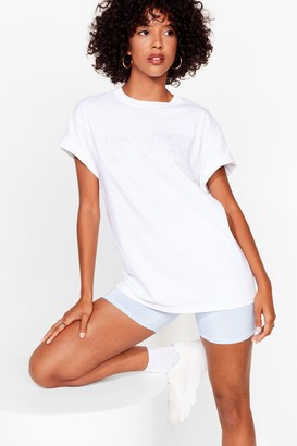 Nasty Gal Womens On the Right Track Graphic Tee - White - S