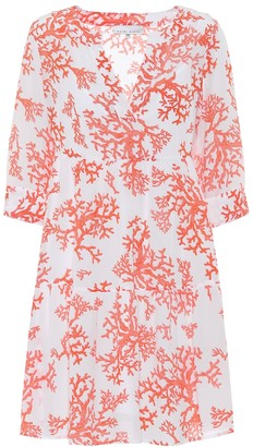 Heidi Klein Belize printed silk tunic minidress