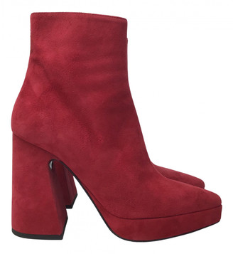 Proenza Schouler Red Suede Ankle boots