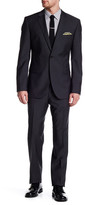 HUGO BOSS Dark Gray Grand/Central Two Button Notch Lapel Wool Suit