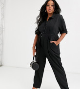 NATIVE YOUTH Plus utility jumpsuit with d-ring belt