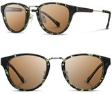 Shwood Women's 'Ainsworth' 49Mm Acetate & Wood Sunglasses - Amber/ Gold/ G15