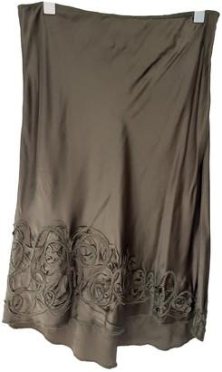 Philosophy di Alberta Ferretti Green Silk Skirt for Women