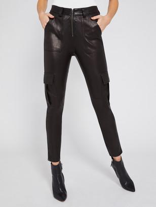Alice + Olivia Leather Skinny Cargo Pant