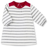 Petit Bateau Baby girl dress in heavy striped jersey